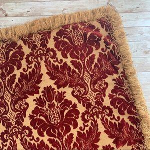 Ethan Allen damask velvet upholstery pillow cover